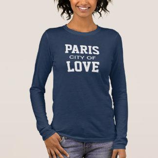 Ville de Paris de l'amour T-shirt À Manches Longues