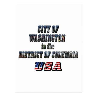 Ville de Washington dans le District de Columbia Carte Postale