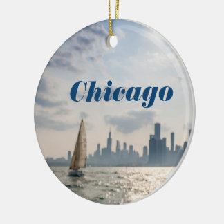 Ville des ornements de Noël de Chicago - horizon