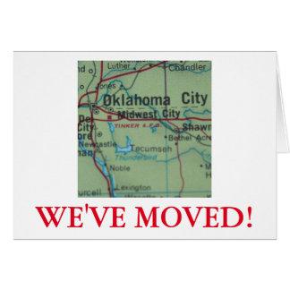 Ville d'Oklahoma nous avons déplacé le faire-part
