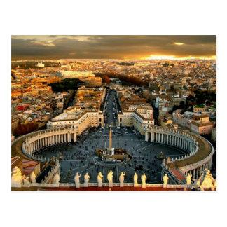 Ville du Vatican carrée de St Peter Carte Postale