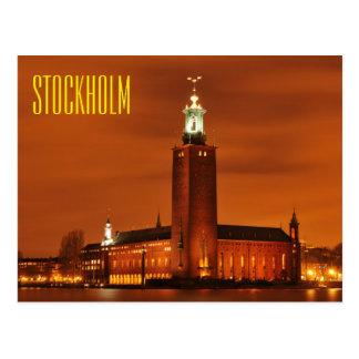 Ville hôtel, Suède de Stockholm Carte Postale