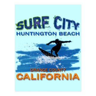 VILLE HUNTINGTON BEACH DE SURF CARTE POSTALE