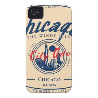 Ville venteuse de Chicago Étui iPhone 4