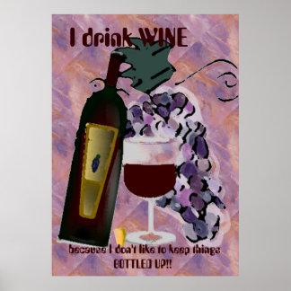 Vin humoristique poster