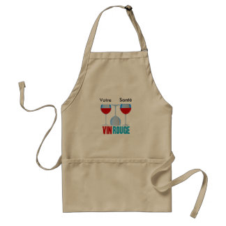 Vin rouge cuisinier tablier