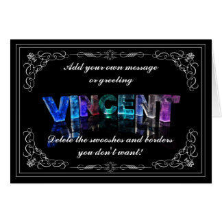 Vincent - appelez dans la carte de voeux de