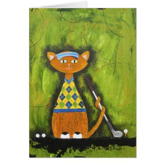 Vincent, le golfeur de Paisley Carte De Vœux