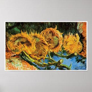 Vincent van Gogh - beaux-arts coupés de quatre Poster