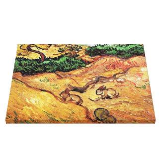 Vincent van Gogh - champ avec des beaux-arts de Toiles