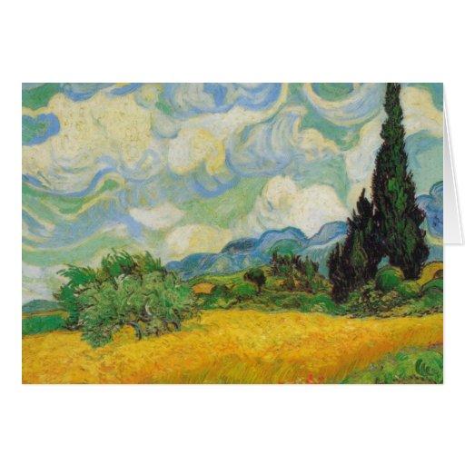 Vincent van Gogh - het Gebied van de Tarwe met Cip Kaarten
