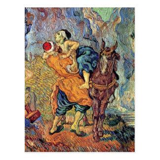 Vincent van Gogh - le bon Samaritain - beaux-arts Carte Postale