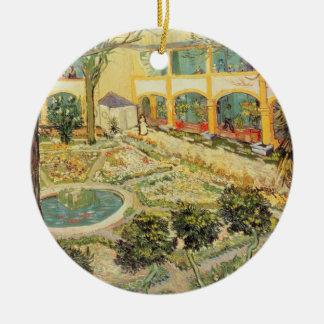 Vincent van Gogh   le jardin d'asile chez Arles Ornement Rond En Céramique