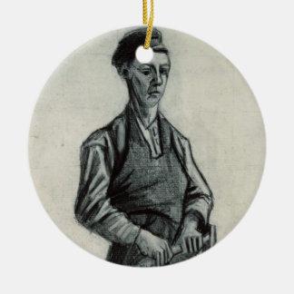 Vincent van Gogh | le jeune forgeron, 1882 Ornement Rond En Céramique