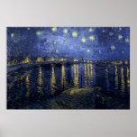 Vincent van Gogh - nuit étoilée au-dessus du Rhône Posters