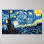 Vincent van Gogh - nuit étoilée Poster