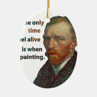 Vincent van Gogh Ornement Ovale En Céramique