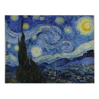Vincent van Gogh - Sterrige Nacht Wens Kaart