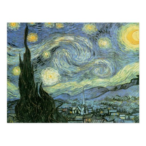 Vincent van Gogh - Sterrige Nacht Wens Kaarten