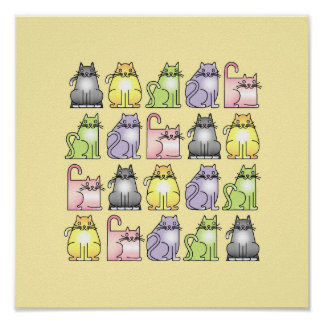vingt chats humoristiques de bande dessinée