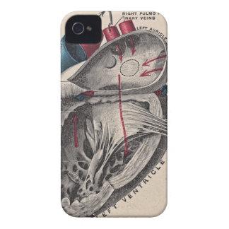 Vintage Anatomisch Hart iPhone 4 Hoesje