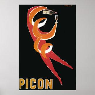 Vintage Art deco door Bernard Villemot/Picon Poster