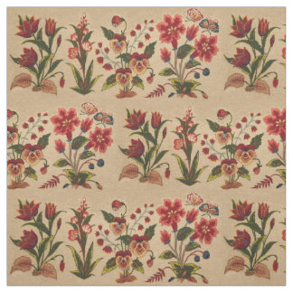 Vintage BloemenPatroon Stof