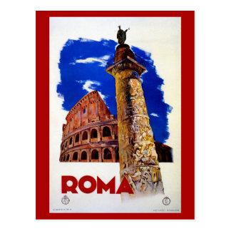 Vintage de Italiaanse reis van Rome Rome Briefkaart