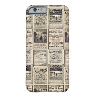 Vintage Fiets Adverterene Collage in Sepia Tonen Barely There iPhone 6 Hoesje