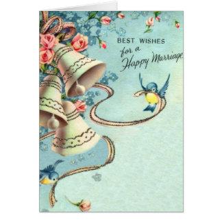 Vintage Gelukkig Huwelijk Briefkaarten 0