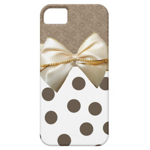 Vintage Grote Bruine Stippen iPhone 5 Covers
