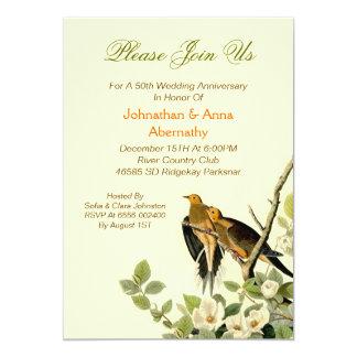 vintage het huwelijksverjaardag van liefdevogels kaart