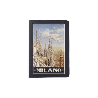 Vintage het paspoorthouder van Milaan Milaan Paspoort Houder