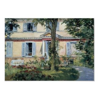 Vintage Huizen door Manet, Adreswijziging 8,9x12,7 Uitnodiging Kaart