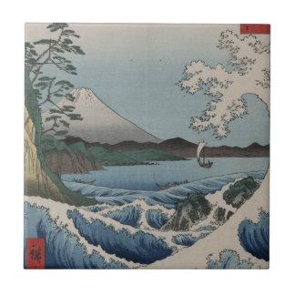 Vintage Japanner het Zee van Satta Keramisch Tegeltje