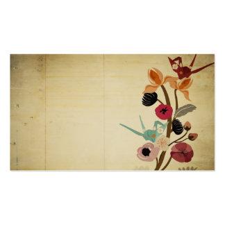 Vintage Japans bloemenVisitekaartje