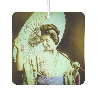 Vintage Japanse Geisha die Favoriete Parasol Auto Luchtverfrissers