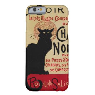 Vintage Jugendstil, de Zwarte Kat van Noir van het Barely There iPhone 6 Hoesje