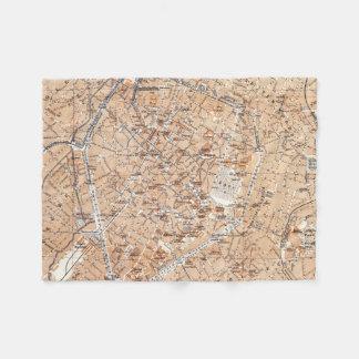 Vintage Kaart van Brussel (1905) Fleece Deken