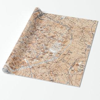 Vintage Kaart van Brussel (1905) Inpakpapier