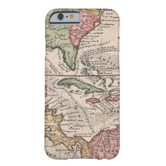 Vintage Kaart van de Caraïben (1732) Barely There iPhone 6 Hoesje