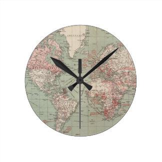 Oude wereldkaart klokken oude wereldkaart muur klokken - Vintage bank thuis van de wereld ...