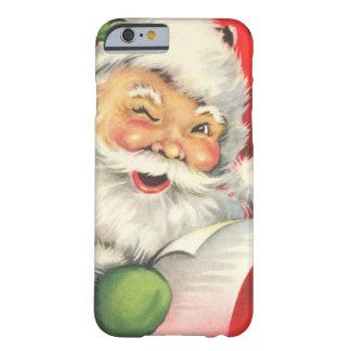Vintage Kerstmis de Kerstman Barely There iPhone 6 Hoesje