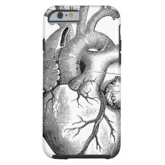 Vintage Klantgerichte Anatomie | van het Hart Tough iPhone 6 Hoesje