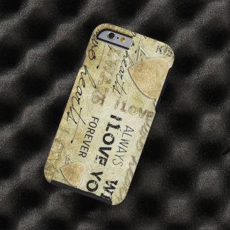 vintage liefde vectorart. tough iPhone 6 hoesje
