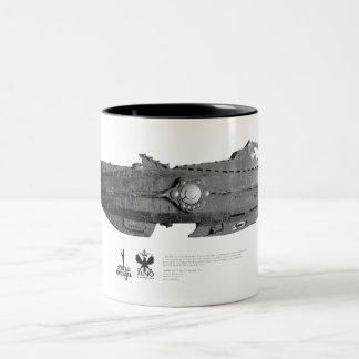 Vintage_Nautilus_01 Tweekleurige Koffiemok