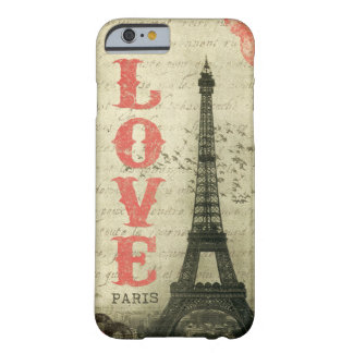 Vintage Parijs Barely There iPhone 6 Hoesje