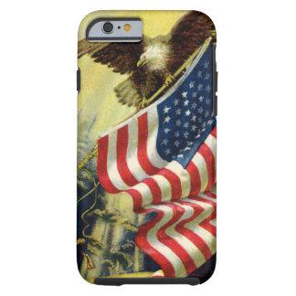 Vintage Patriottisme, de Amerikaanse Vlag van Tough iPhone 6 Hoesje