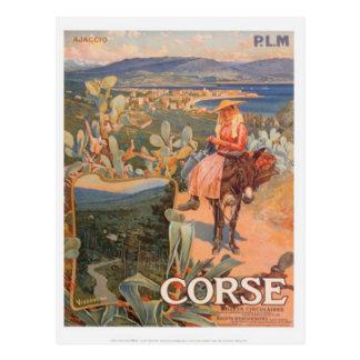 Vintage reis Corsica, Ajaccio - Briefkaart