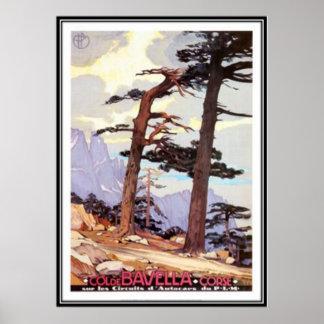 Vintage reis Corsica - Poster